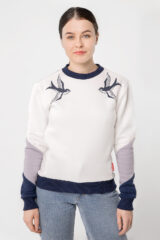 Women's Sweatshirt Swallow. Three-cord thread fabric: 77% cotton, 23% polyester.