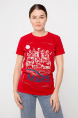 Women's T-Shirt Mars. Material: 95% cotton, 5% spandex.