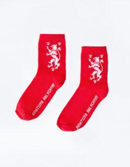 Шкарпетки Лев. Колір червоний. 4.