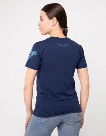 Жіноча Футболка Десант. Колір синій. Футболкаунісекс(розміри чоловічі).