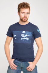 Men's T-Shirt Airborn. Material: 95% cotton, 5% spandex.