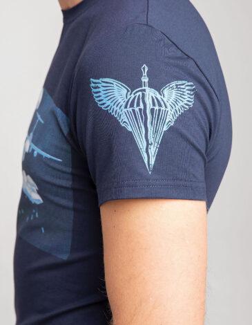 Men's T-Shirt Airborn. Color navy blue. Material: 95% cotton, 5% spandex.