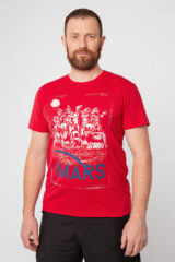 Men's T-Shirt Mars. Material: 95% cotton, 5% spandex.