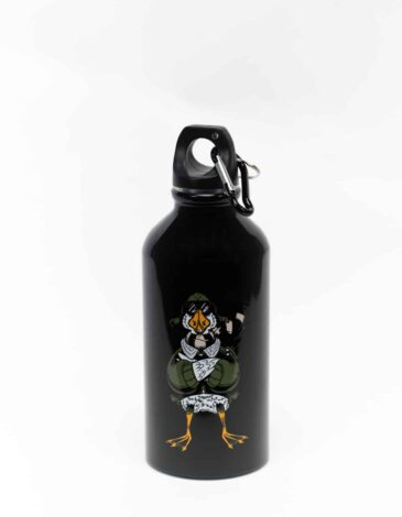 Kids Flask Goose. Color black. Wash the flask from the inside before using; ● Image applying technique — cold decal.