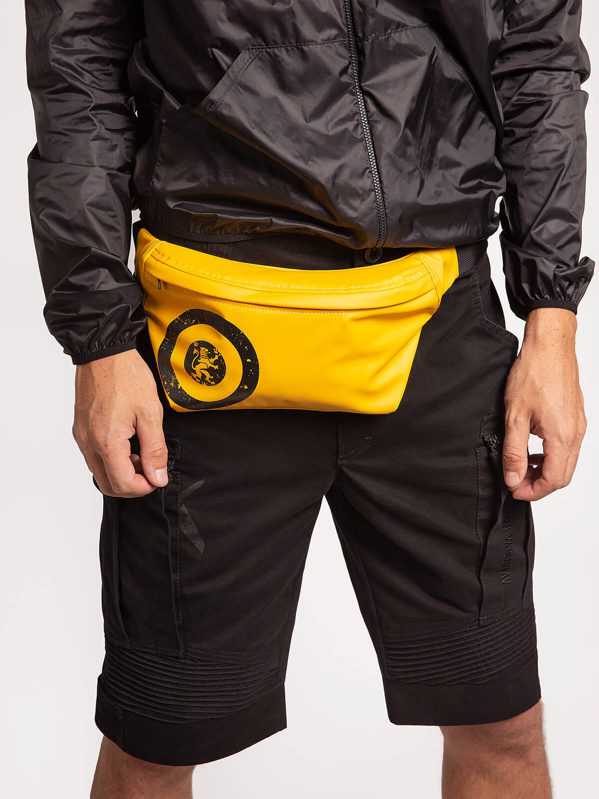 """Windbreaker And Fanny Pack Set """"have A Nice Flight"""". Color black.  Material windbreaker: polyester 100%  The color shades on your screen may differ from the original color."""