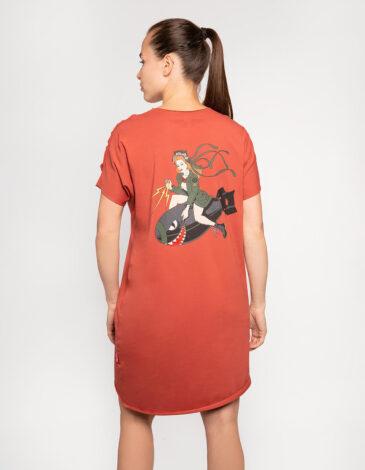 Жіноча Сукня Софійка. Колір теракотовий. Матеріал: 95% бавовна, 5% спандекс.