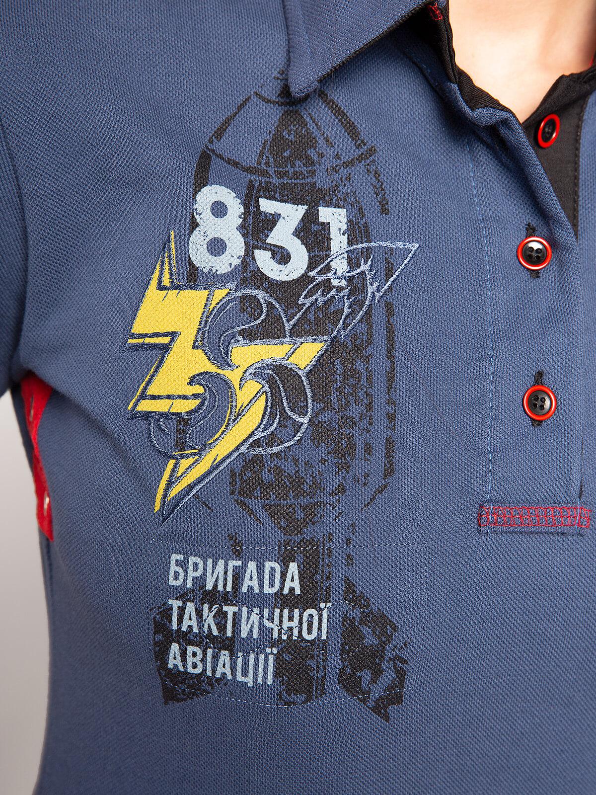 Men's Polo Shirt 831 Brigade. Color denim. .