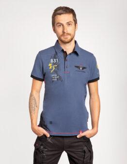 Men's Polo Shirt 831 Brigade. Color denim. Тканина піке: 100% бавовна.