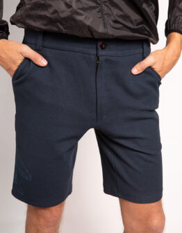 Men's Shorts Mig-29. Color dark blue. Тканина інтерлок: 100% бавовна.