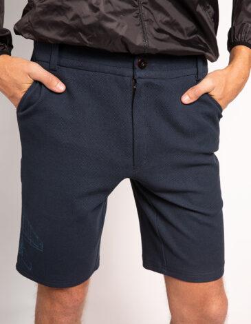 Men's Shorts Mig-29. Color dark blue. Interlock fabric 100% cotton.