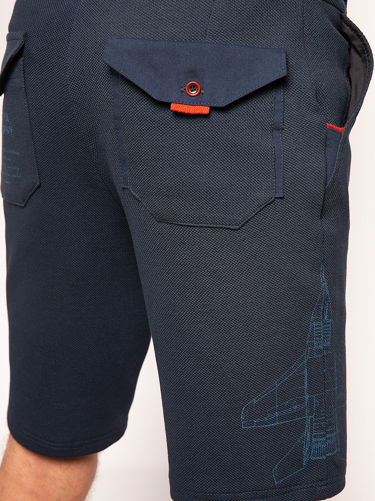 Men's Shorts Mig-29. Color dark blue.  Height of the model: 180cm.