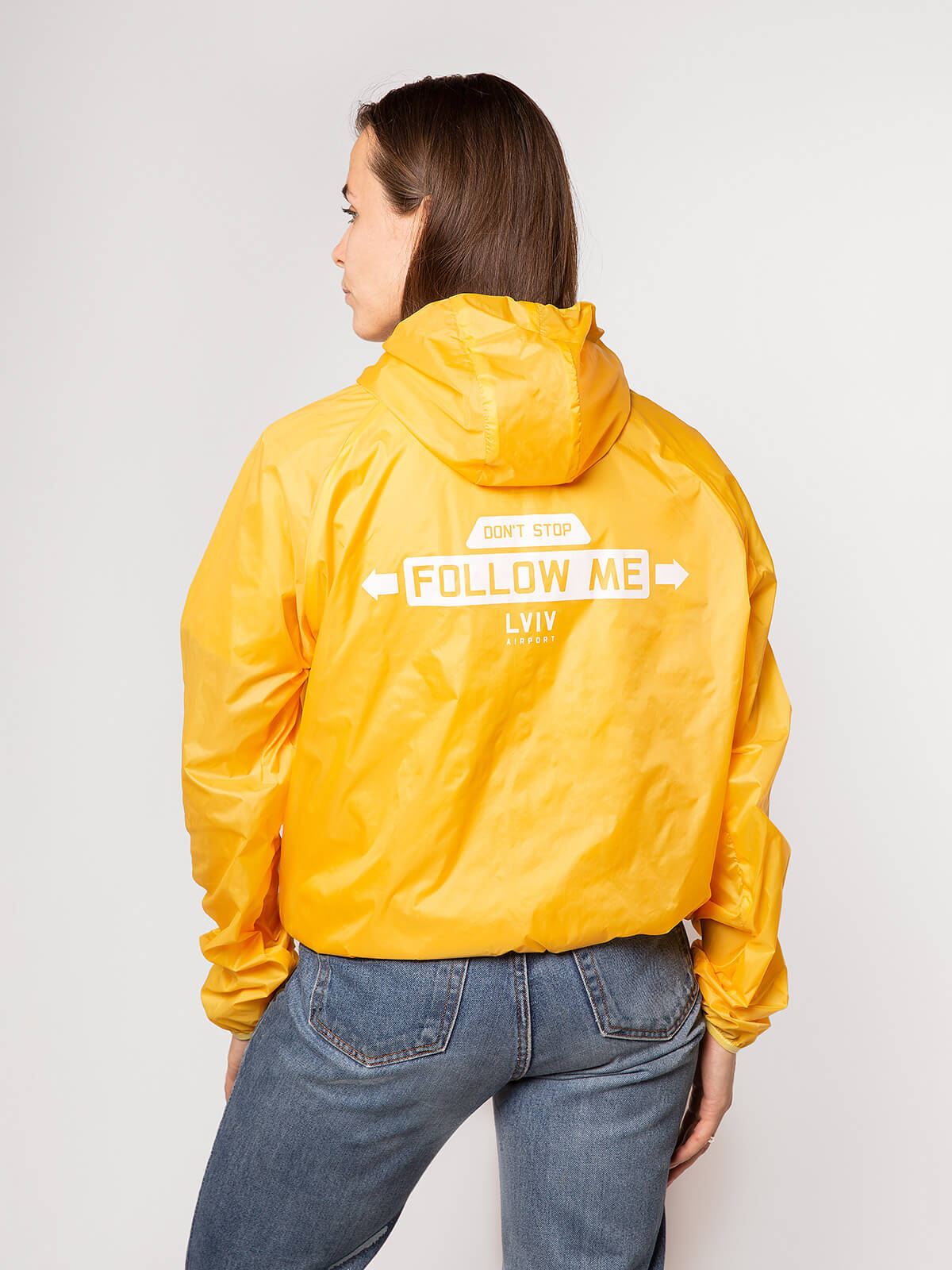 """Windbreaker And Fanny Pack Set """"have A Nice Flight"""". Color yellow. 4."""