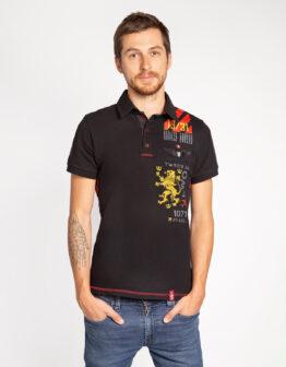 Men's Polo Shirt Lwo. Color black. Футболкаунісекс(розміри чоловічі).