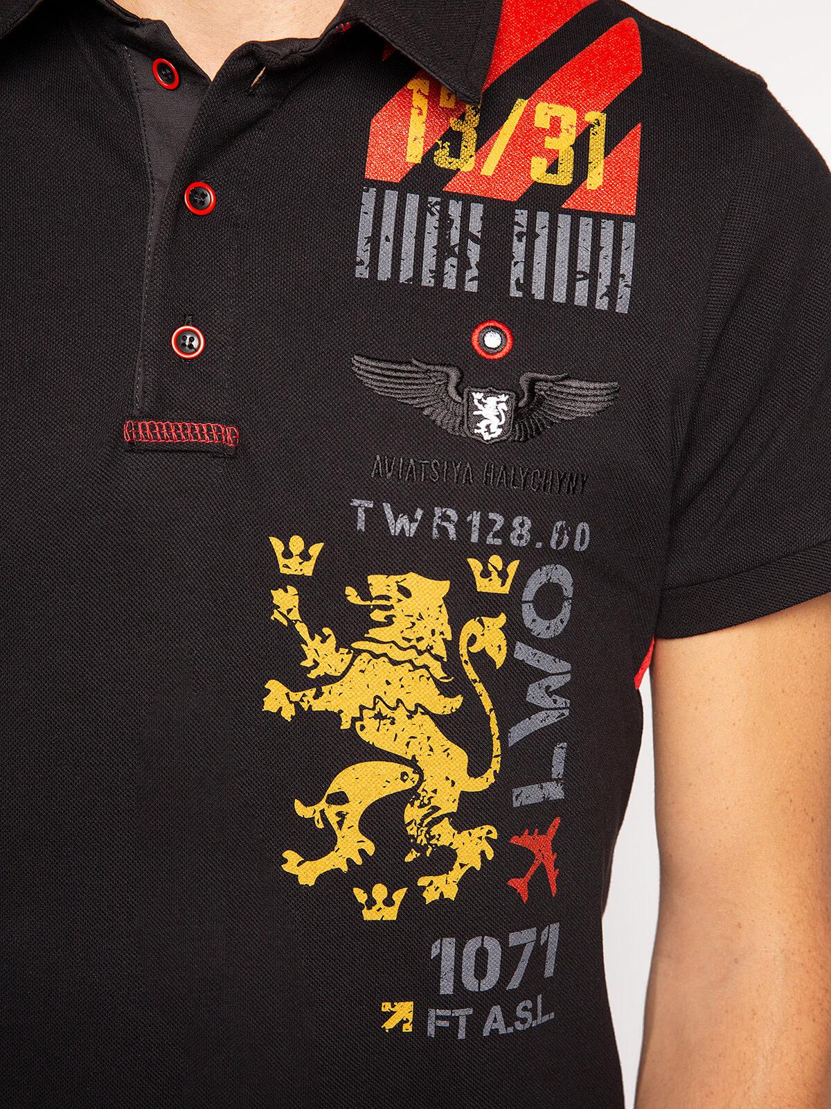 Men's Polo Shirt Lwo. Color black. .