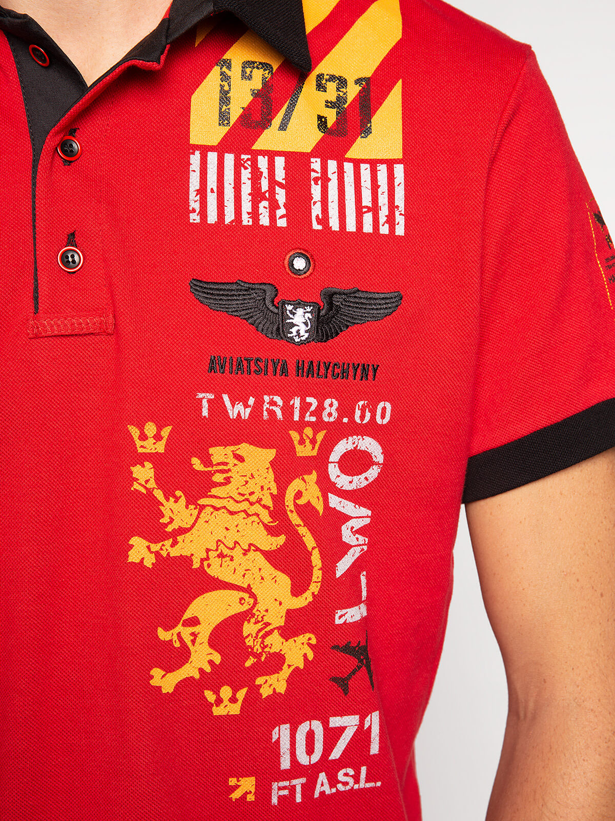 Men's Polo Shirt Lwo. Color red.  The color shades on your screen may differ from the original color.