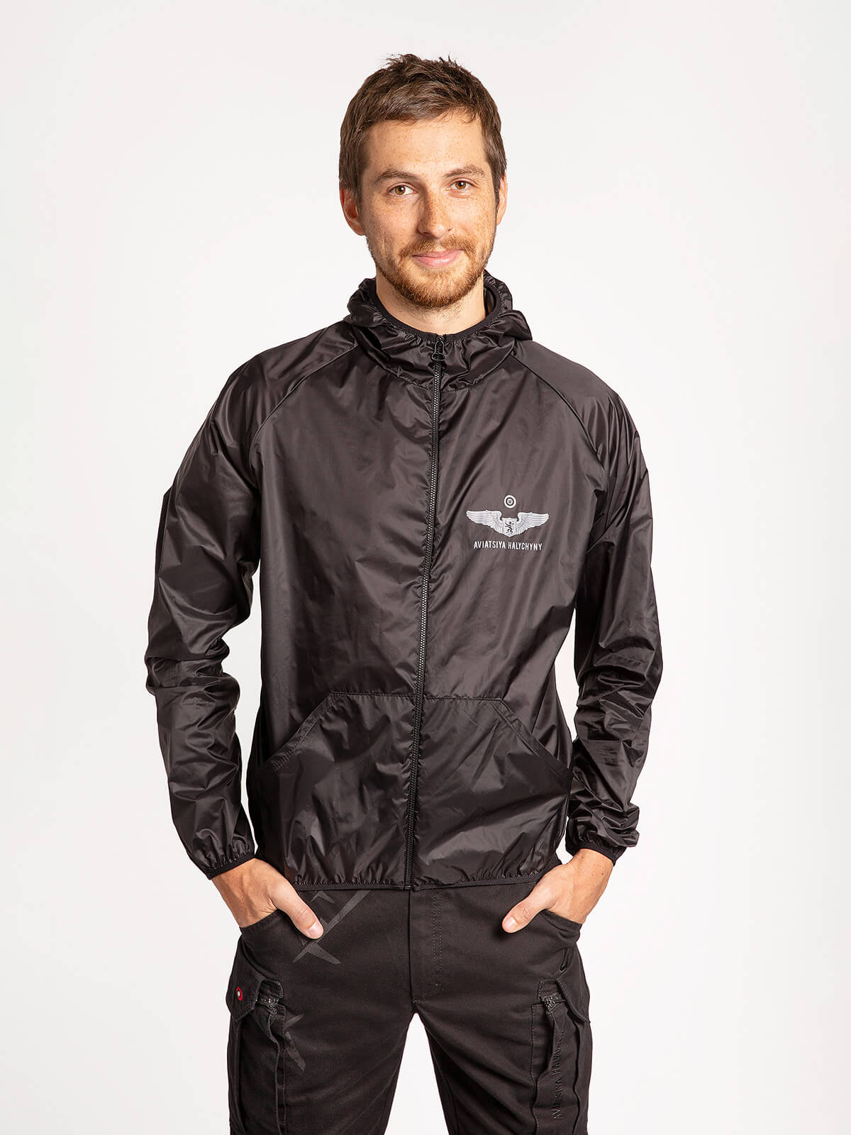 """Windbreaker And Fanny Pack Set """"have A Nice Flight"""". Color black. 3."""