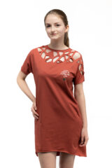 Women's Dress Sophia. Material: 95% cotton, 5% spandex.