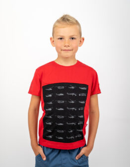 Kids T-Shirt Sikorsky. Color red. .