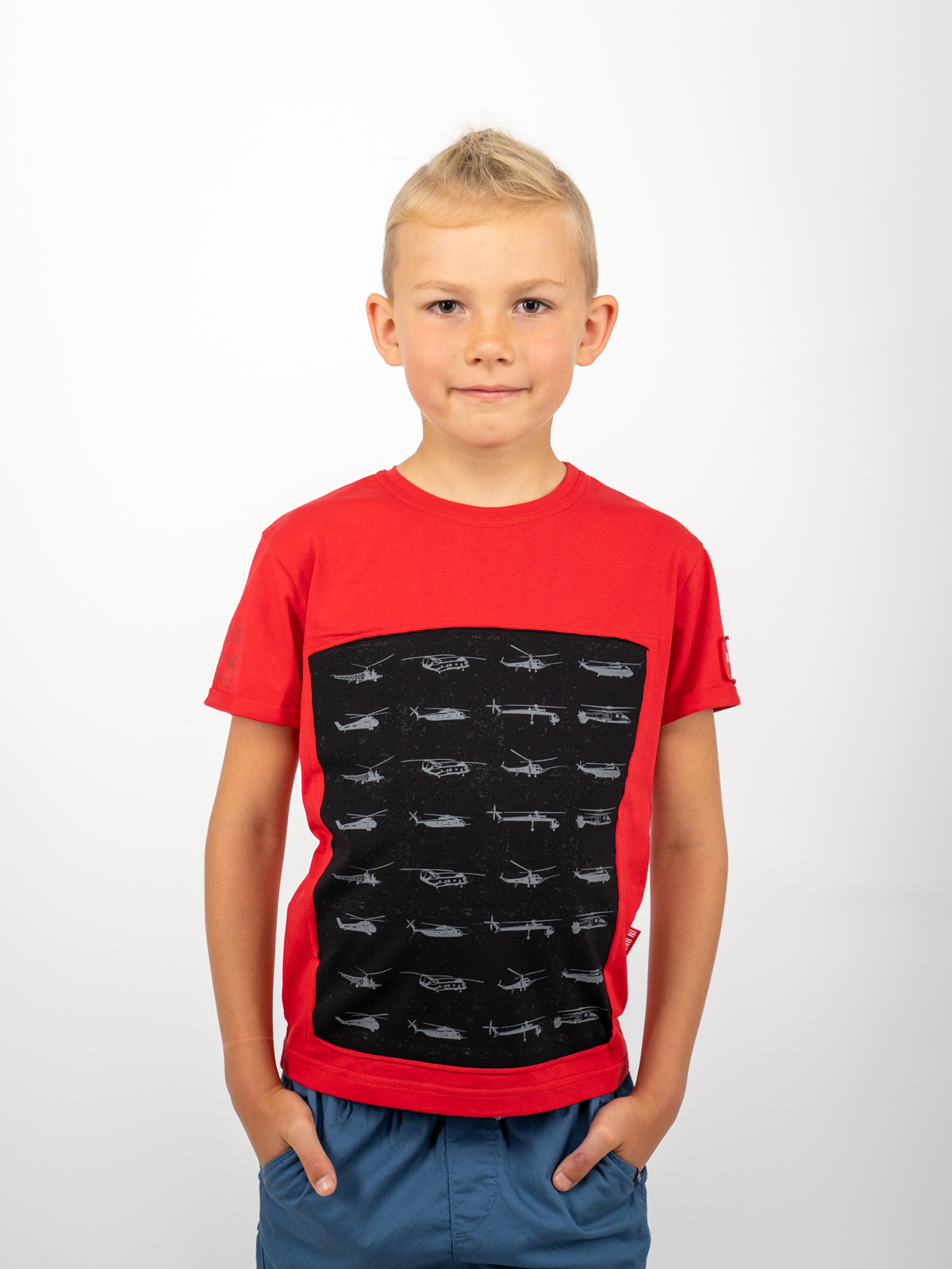 Дитяча Футболка Sikorsky. Колір червоний. Футболка унісекс.