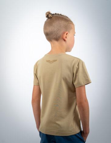 Kids T-Shirt Born In Ukraine. Color sand. Unisex T-shirt.
