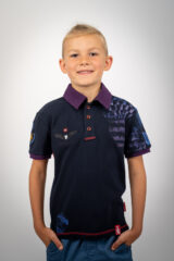 Kids Polo Shirt Balloon. Pique fabric: 100% cotton.
