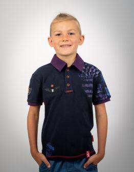 Kids Polo Shirt Balloon. Color dark blue. Тканина піке: 100% бавовна.