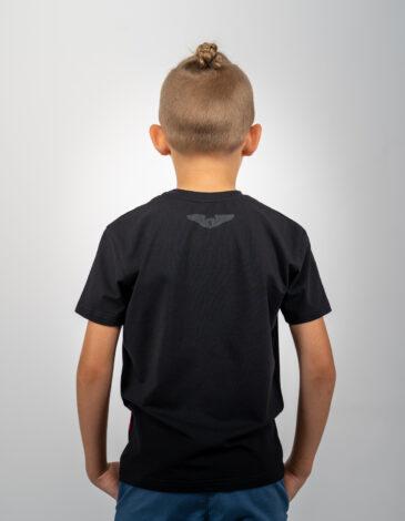 Kids T-Shirt Lion (Roundel). Color black.  Material: 95% cotton, 5% spandex.