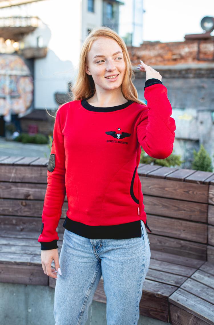 Women's Sweatshirt Ua. Color red. 9.