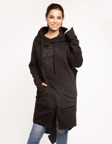 Women's Hoodie Dragon. Color black. Unisex hoodie (men's sizes).