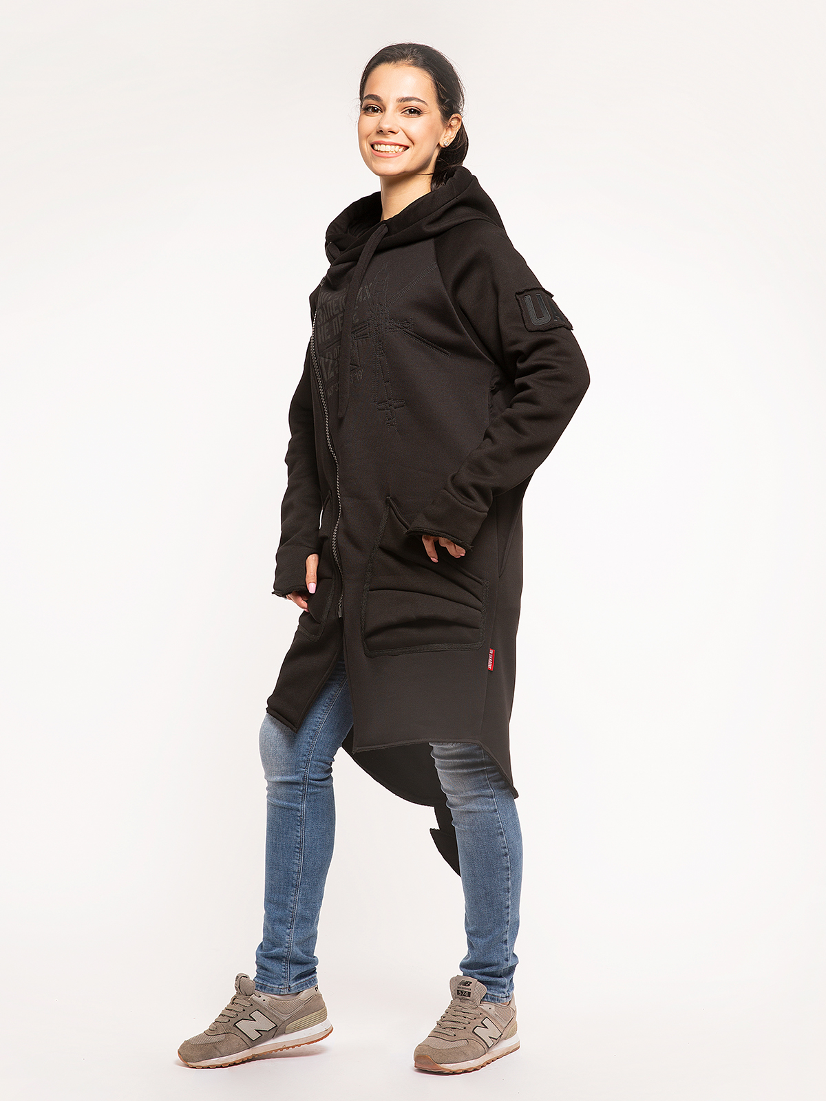 Women's Hoodie Dragon. Color black. 6.