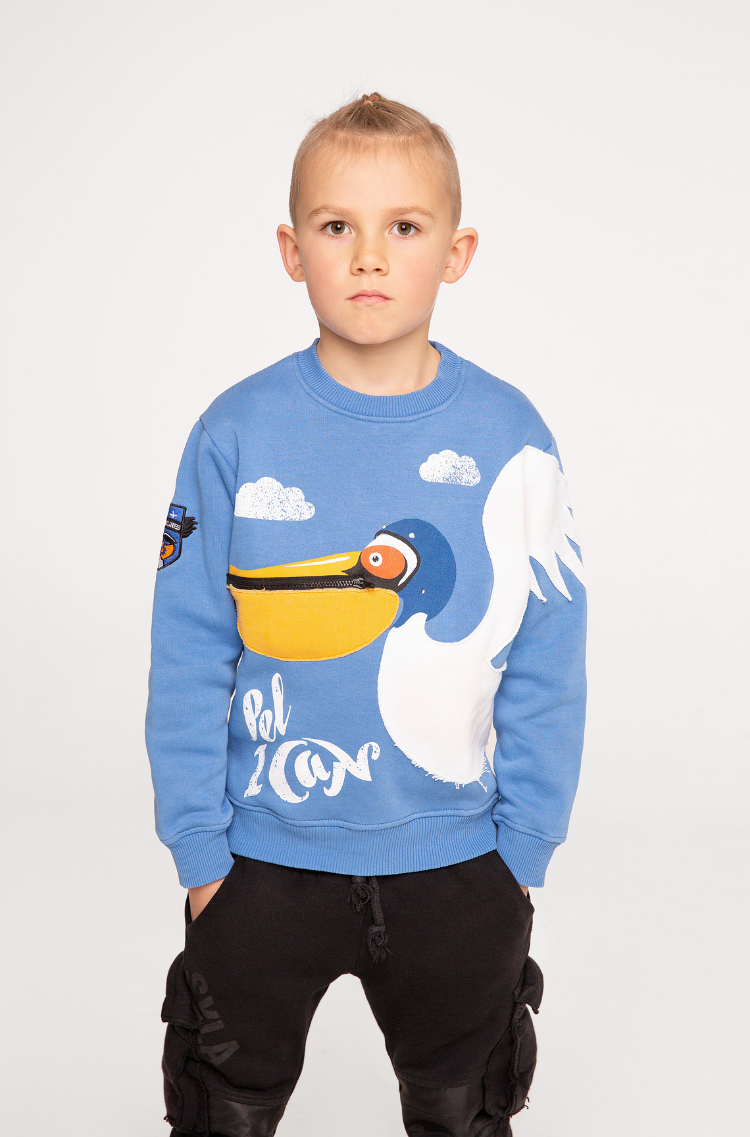Children's sweatshirt Pelican.