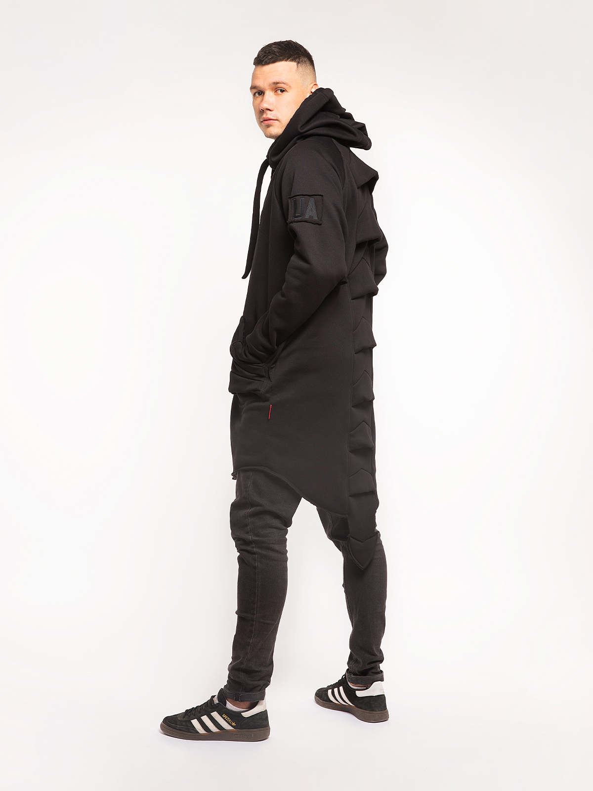 Men's Hoodie Dragon. Color black. 6.