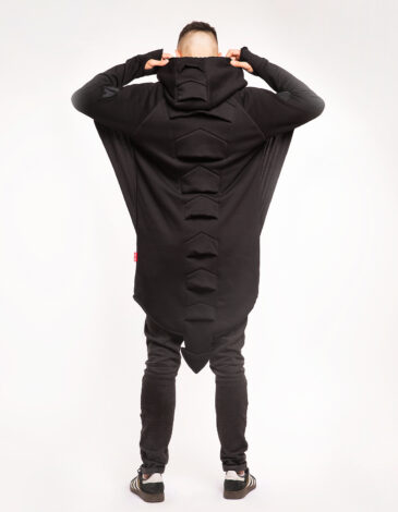 Чоловіче Худі Дракон. Колір чорний. Тканина тринитка: 77% бавовна, 23% поліефір.