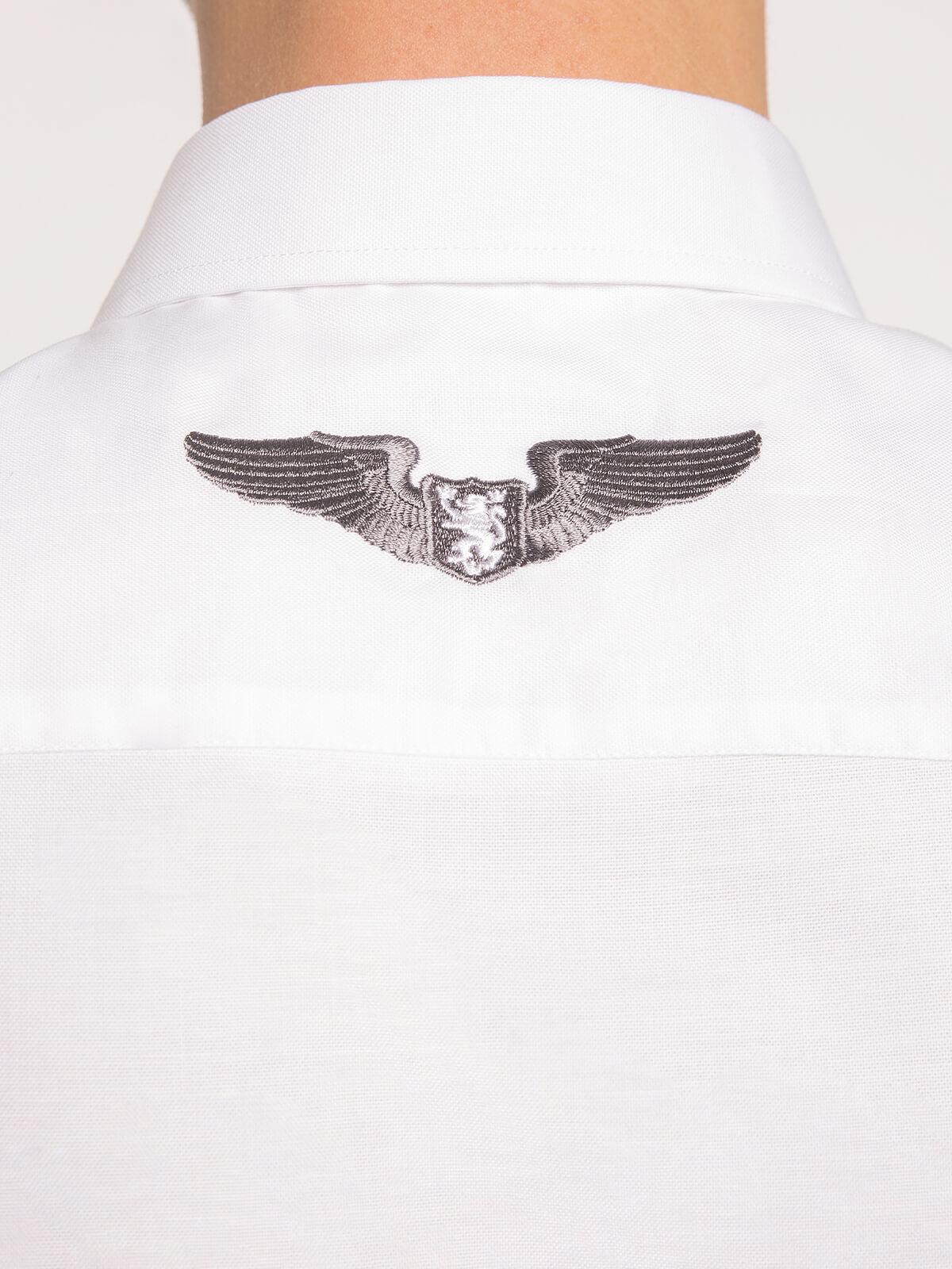 Чоловіча Сорочка Крила. Колір білий.  Розмір на моделі: М.