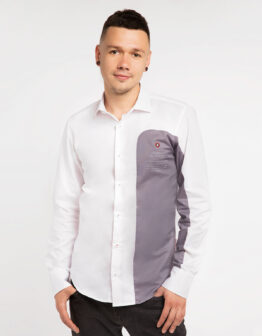 Men's Shirt Kryla. Color white. Метеріал: 100% бавовна.