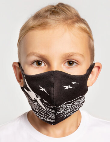 Kids Mask Mountains. Color black. The color shades on your screen may differ from the original color.