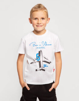 Kids T-Shirt An-225. Color white. Футболка унісекс.