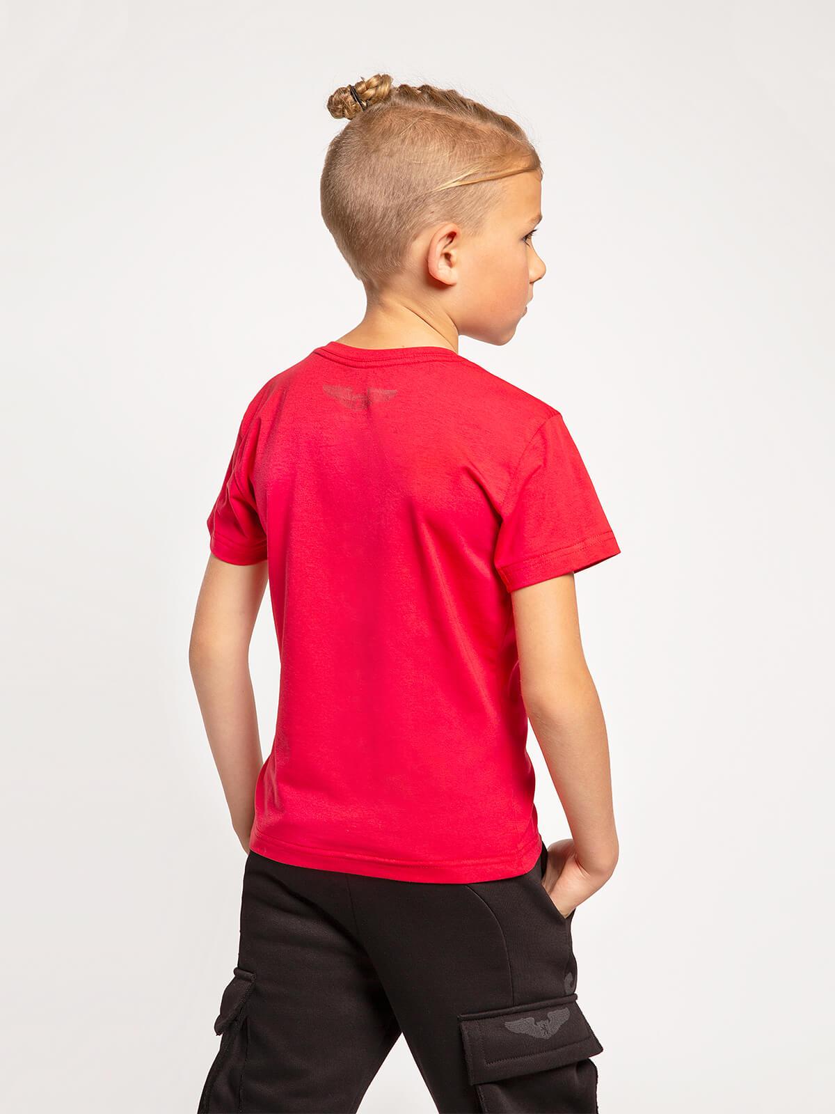 Дитяча Футболка Mars. Колір червоний.  Матеріал: 95% бавовна, 5% спандекс.