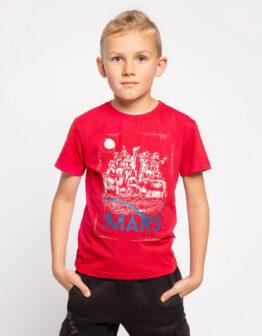 Kids T-Shirt Mars. Color red. Футболка унісекс.