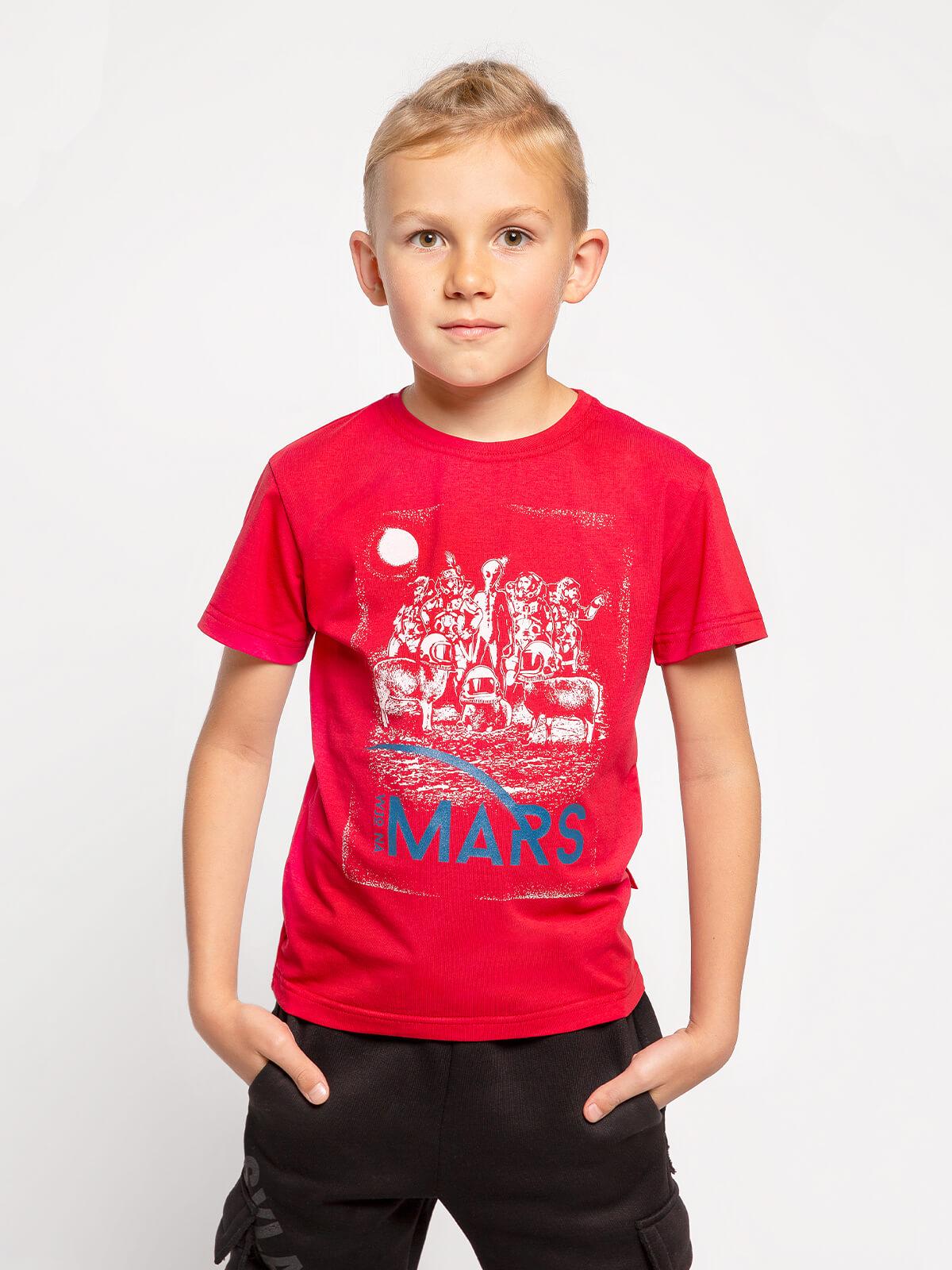 Дитяча Футболка Mars. Колір червоний. Футболка унісекс.