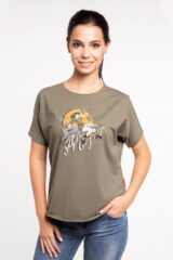 Women's T-Shirt Wild Hearts. Material: 95% cotton, 5% spandex.