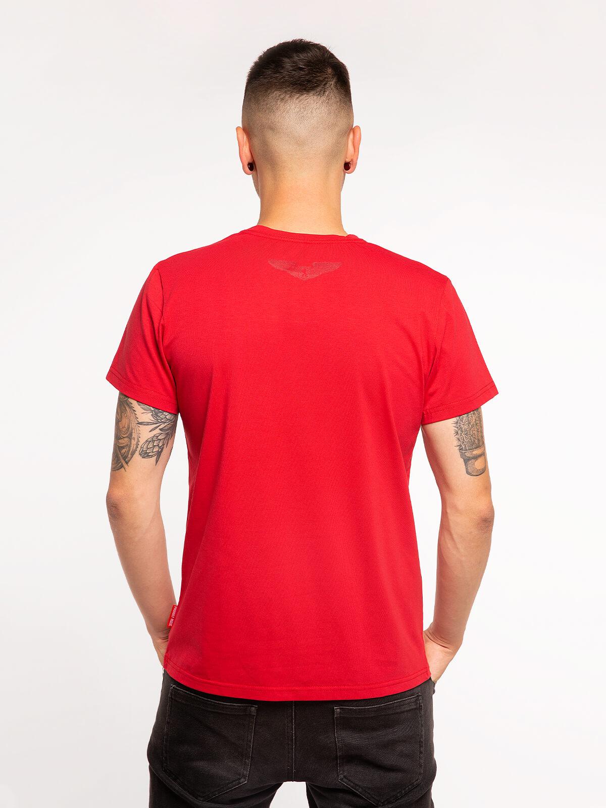 Чоловіча Футболка Mars. Колір червоний.  Матеріал: 95% бавовна, 5% спандекс.