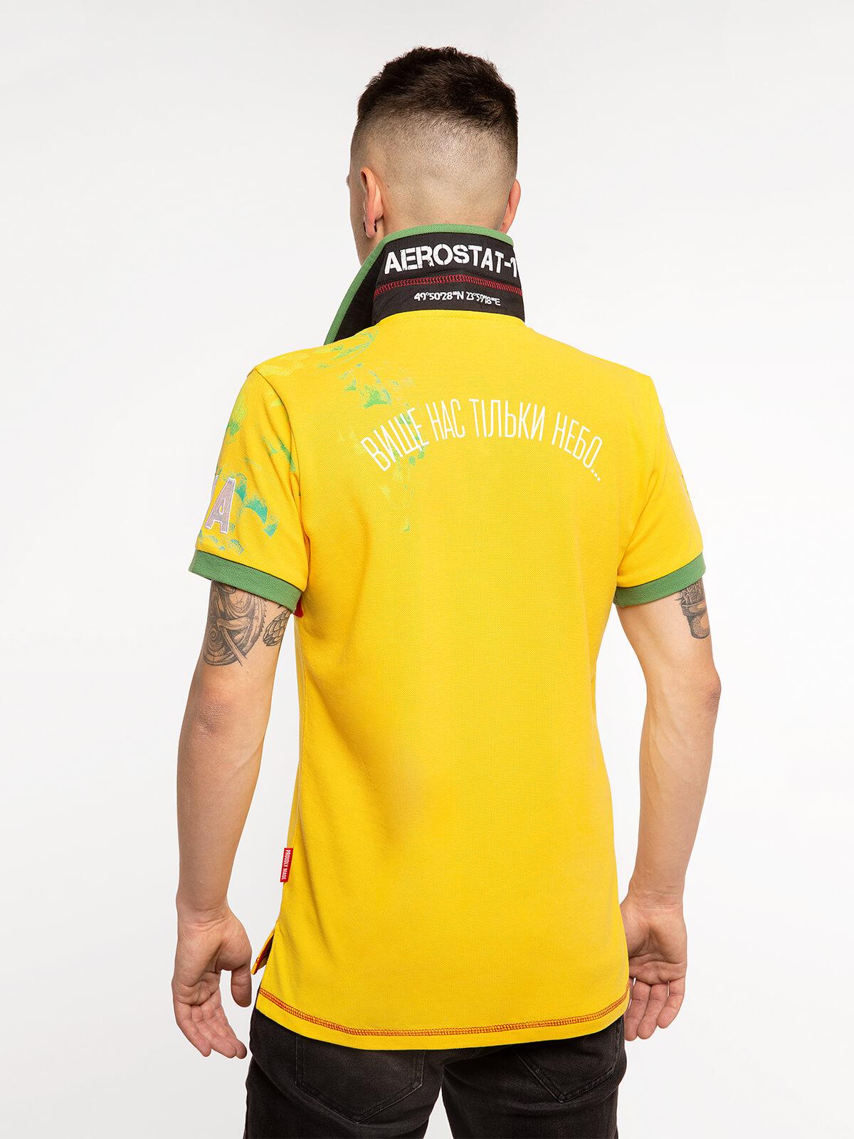 Чоловіче Поло Куля. Колір жовтий. 1.