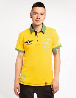 Men's Polo Shirt Balloon. Color yellow. .