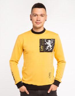 Чоловічий Лонґ-Слів Щасливого Лету. Колір жовтий. Матеріал: 95% бавовна, 5% спандекс.