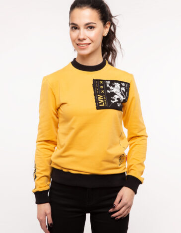 Women's Long Sleeve Have A Nice Fligh. Color yellow. Матеріал: 95% бавовна, 5% спандекс.