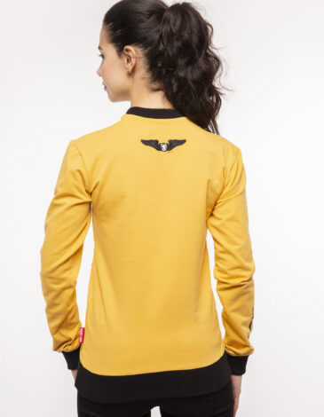 Women's Long Sleeve Have A Nice Fligh. Color yellow. Material: 95% cotton, 5% spandex.