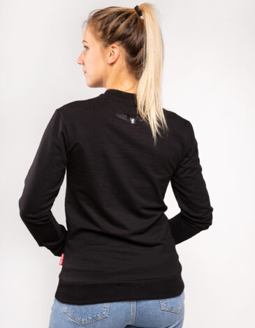 Women's Long Sleeve See You In Lviv. Color black. Material: 95% cotton, 5% spandex.