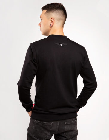 Men's Long Sleeve See You In Lviv. Color black. Material: 95% cotton, 5% spandex.