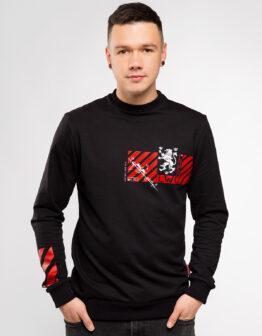 Men's Long Sleeve See You In Lviv. Color black. Матеріал: 95% бавовна, 5% спандекс.